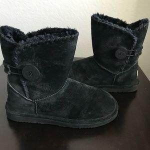 LAMO ESSENTIAL Black Faux Fur Lined Winter Boots 8